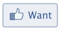 Facebook testa il pulsante Want