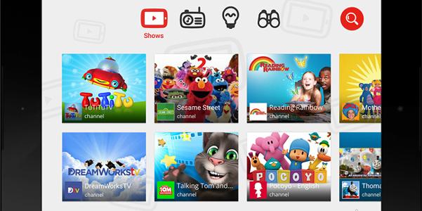 YouTube Kids, video per bambini