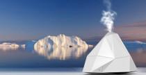 Umidificatore a forma di iceberg