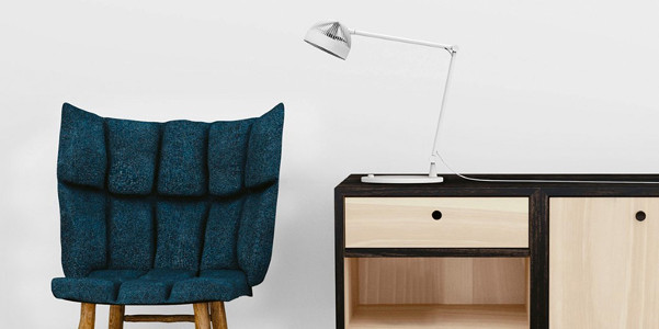 Ventilatore da tavolo a forma di lampada