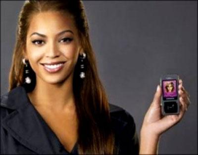 La cantante Beyoncè testimonial per Samsung