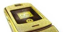 Motorola V3i, edizione in oro e diamanti