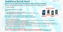 Vodafone Social Hunt: caccia al tesoro su Twitter
