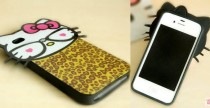 Hello Kitty leo print iPhone case