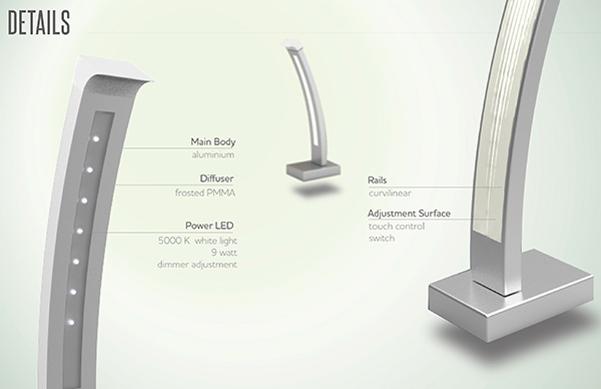 Curve lamp