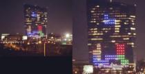 Giocare a Tetris sui grattacieli