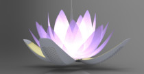 Lotus light che purifica l'aria