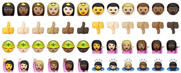 colore pelle emoji