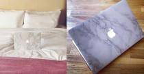 Sticker effetto marmo per MacBook