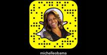Michelle Obama è su Snapchat
