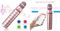 Microfono karaoke, rosa e multifunzione