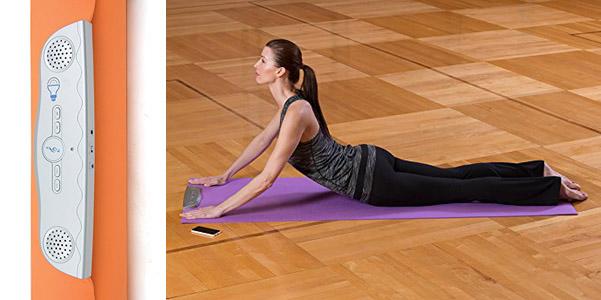 Il tappetino da yoga con la musica