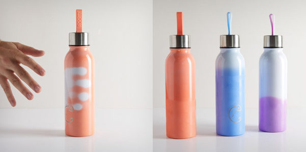 La bottiglia che cambia colore con la temperatura
