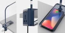NIOXCSM, la lampada che funge anche da ricarica wireless e presa di corrente