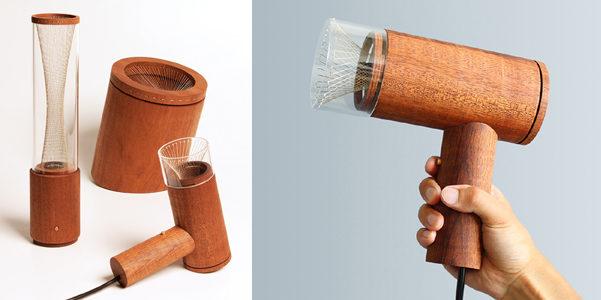 L'asciugacapelli di legno di Kodai Shimizu