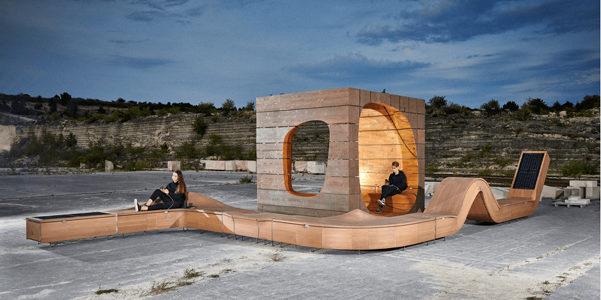 A Budapest gli arredi urbani sono hi-tech e li firma Hello Wood